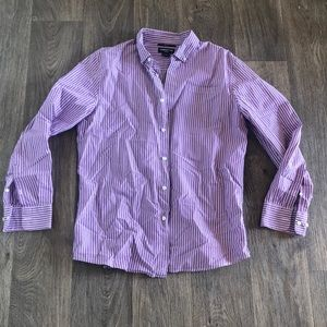 Purple and White Button-Down Shirt